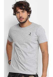Camiseta Fatal Básica Logo Masculina - Masculino-Cinza