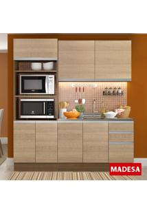 Cozinha Compacta 7 Portas 3 Gavetas Avelã Rustic/Saara - Madesa