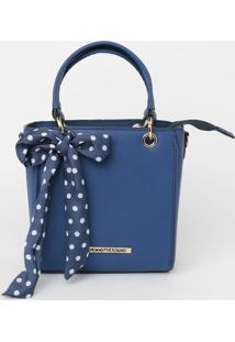Bolsa Transversal Com Bag Charm - Azul - 20X19X10Cmloucos E Santos