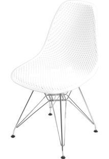 Cadeira Colmeia Com Base Em Metal Bálcãs – Branco