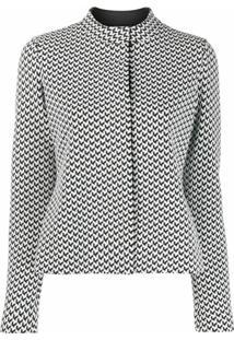 Emporio Armani Blusa Com Padronagem Geométrica - Preto