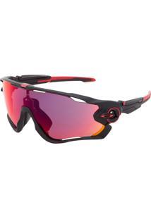 Óculos De Sol Oakley Jawbreaker Preto/Vermelho