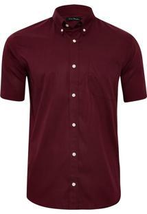 Camisa Manga Curta Wine