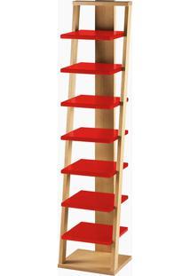 Prateleira Stairway Vermelho Laca M48