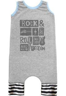 Pijama Regata Comfy Rock Freedom Cinza