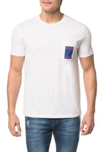 Camiseta Ckj Mc Bolso Com Estampa - M