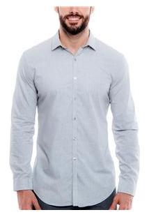 Camisa Masculina 004038 Dkny - Cinza
