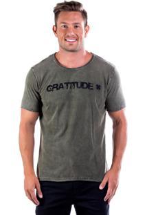 Camiseta Four Gratitude Gf - Verde Musgo