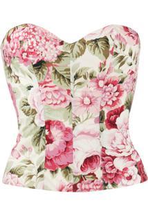 P.A.R.O.S.H. Blusa Com Estampa Floral - Neutro