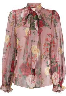 Dolce & Gabbana Blusa Com Estampa Barroca E Rosas
