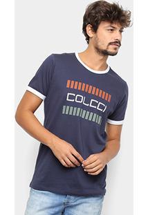 Camiseta Colcci Logo Masculina - Masculino-Azul