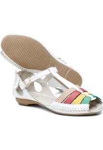 Tamanco Top Franca Shoes Babuche Feminino - Feminino-Branco