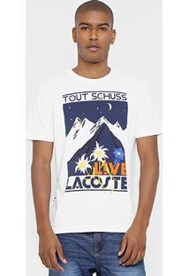 Camiseta Lacoste Live Gola Careca Live Flowers - Masculino