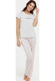 Pijama Feminino Estampa Floral Marisa