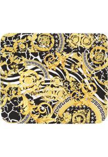 Young Versace Cobertor Com Estampado Barroca - Preto