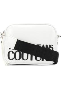 Versace Jeans Couture Bolsa Tiracolo Com Alça Contrastante - Branco