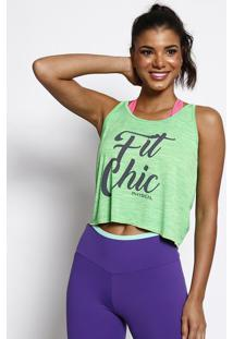"Regata ""Fit Chic""- Verde & Preta- Physical Fitnessphysical Fitness"