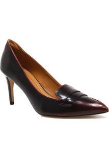 Sapato Cecconello Scarpin Verniz - Feminino-Bordô