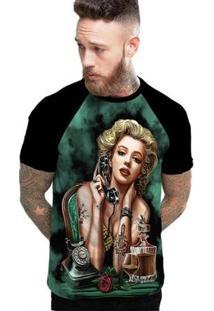 Camiseta Stompy Raglan Modelo 199 Masculina - Masculino-Preto