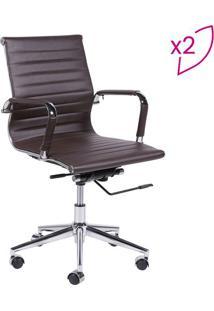 Jogo De Cadeiras Office Eames Esteirinha- Cafã© & Prateador Design