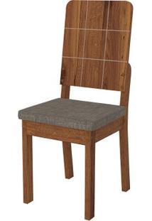 Cadeira Dama 2 Peças - Linho Bronze - Rústico Terrara