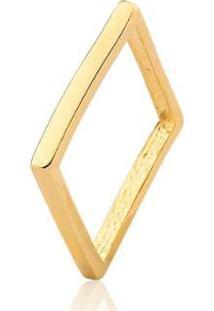 Anel Quadrado Estelle Semijoias Zara Banhado Em Ouro 18K - Feminino-Dourado