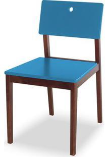 Cadeira Flip Cor Cacau Com Azul - 30822 - Sun House