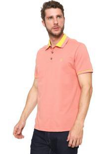 Camisa Polo John John Reta Vintage Coral