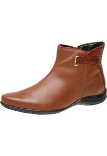 Bota Social Mr. Gutt Cano Curto Rasteira Chocolate