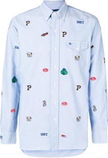 Polo Ralph Lauren Camisa Com Bordado - Azul