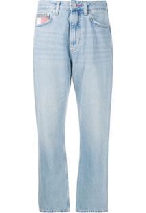 Tommy Jeans Calça Jeans Reta Harper - Azul