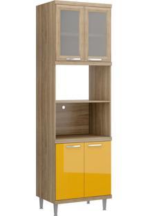 Armário De Cozinha 5120 Cx Arg Fr Lacca Amarelo Mold. Arg C/ Vidro - Multimóveis