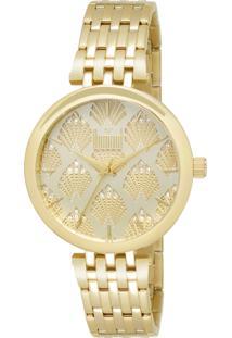 db41e333d5671 Relógio Analógico Dourado Dumont feminino   Shoelover