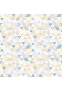 Papel De Parede 7448 Amarelo E Azul 52Cm Com 10 Metros