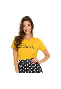 T-Shirt Jogabe Estampada Amarela