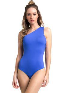 Body Liso Com Tiras- Azul- Vestemvestem