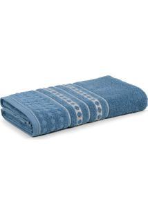 Toalha De Banho Emeline Karsten Azul Crepãºsculo 70 X 135 Cm - Azul - Dafiti