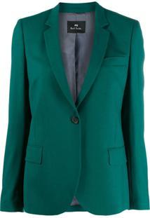 Ps Paul Smith Blazer Slim Com Único Botão - Verde
