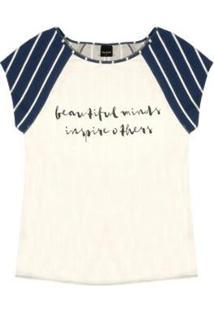 Blusa Viscotorcion Rovitex Feminina - Feminino-Azul