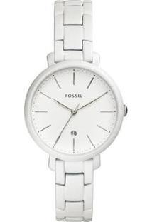 Relógio Fossil Feminino Jacqueline Prata - Es4397/1Bn Es4397/1Bn - Feminino-Branco