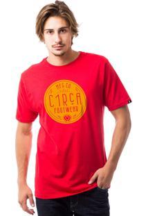 Camiseta C1Rca Deco Branco/Vermelho