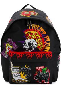 Philipp Plein Star Backpack - Preto