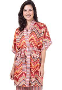 Robe Cetim Homewear Estampado - 589.0722 Marcyn Lingerie Pijamas Multicolorido - Multicolorido - Feminino - Dafiti