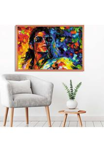 Quadro Love Decor Com Moldura Michael Jackson Rose Metalizado Grande