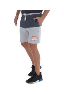 Bermuda De Moletom Red Bull Racing Sc Color - Masculina - Cinza Cla/Azul Esc