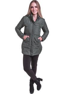 Jaqueta Sobretudo Acolchoado Frio Inverno Carbella Verde Militar