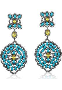 Brinco Le Diamond Zirconias Azuis