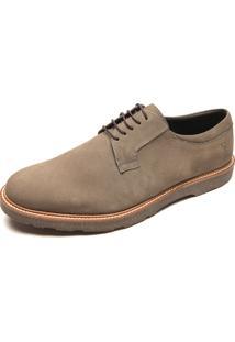 Sapato Couro Vr Recortes Cinza