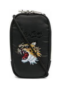 Kenzo Bolsa Para Celular X Kansai Yamamoto Com Bordado - Preto