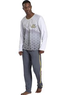 Pijama Recco Viscose E Malha Touch Branco - Tricae